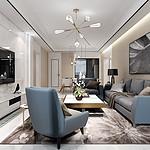 中海广场-142平米-现代新极简风格装修效果图