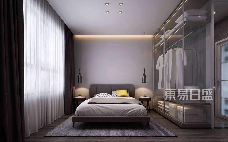 现代新极简风格卧室装修风格效果图_2019装修案例图片