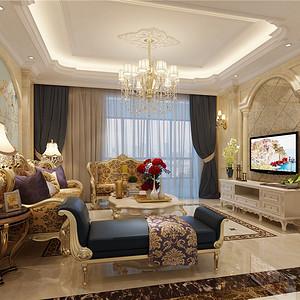 格兰名筑-172㎡-欧式古典风格-四房二厅 装修效果图
