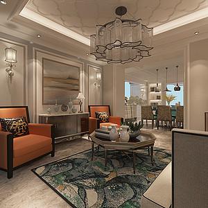 九如府现代美式风格216㎡平层+地下室