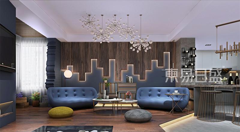 现代前卫-客厅沙发背景墙效果图_装修效果图大全2018