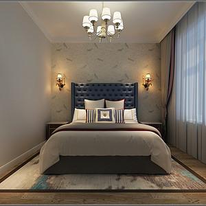 铂悦山美式风格卧室装修效果图