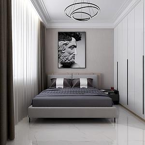 中海广场现代新极简风格卧室装修效果图