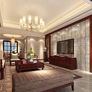 滨湖名邸中式风格装修效果图