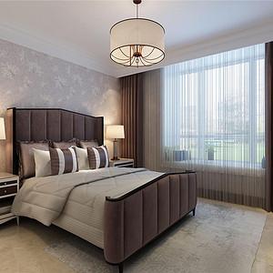 原乡半岛新美式风格主卧室装修效果图