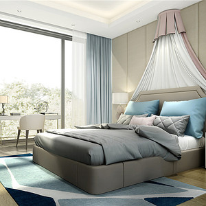铂悦西郊-现代中式-490平米卧室
