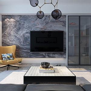 现代简约-客厅电视背景墙