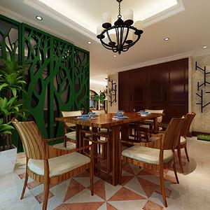 餐厅简洁的造型与家具流畅