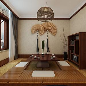 大连中式装修-茶室