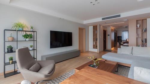 建邦华庭 现代简约装修 实景图 三室两厅 154平米