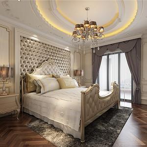 西郊庄园-欧式风格-340平米卧室
