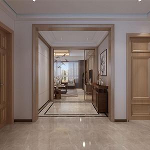 原乡半岛新中式风格过厅装修效果图