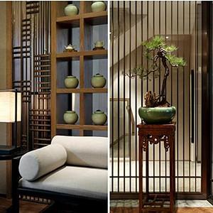 壹方中心-新中式-会客厅装修效果图