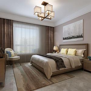 原乡半岛新中式风格卧室装修效果图