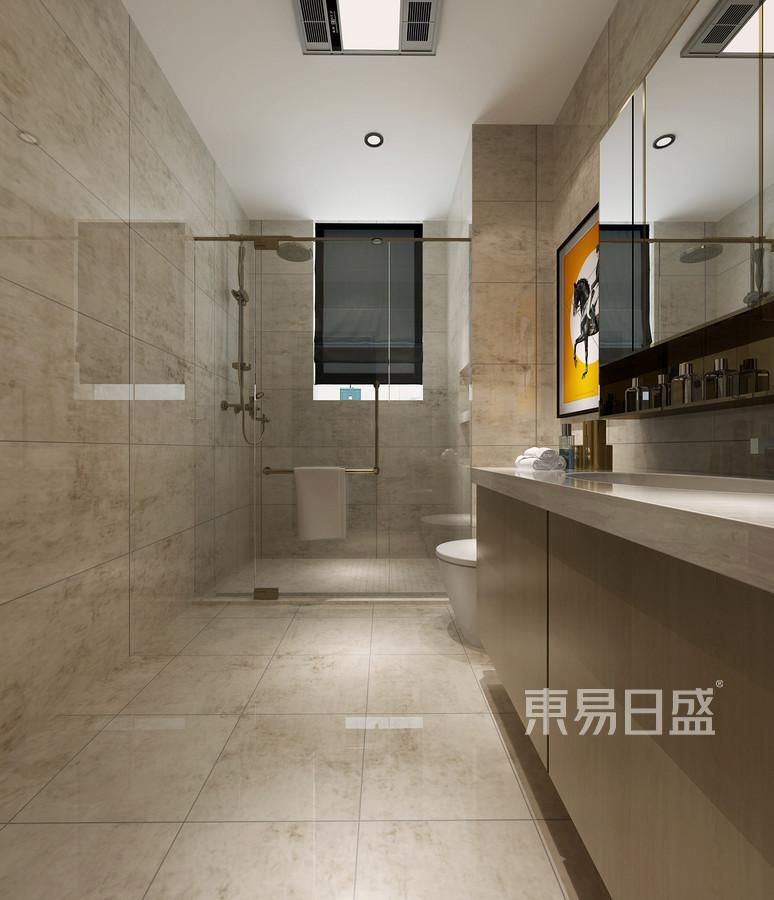 200平融府三居室中式风格卫生间装修效果图