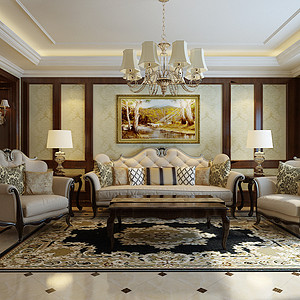 盛邦大都会-四居室-新古典风格