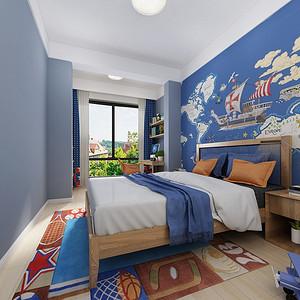 湘域熙岸300平新中式四居室儿童房