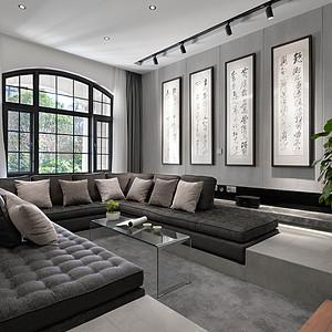 昆明滇池ONE别墅550 ㎡现代简约风格装修效果图