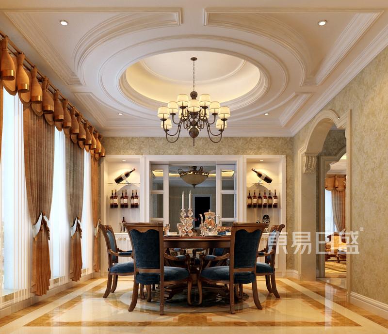 欧式古典 - 富虹太子城欧式风格别墅装修餐厅