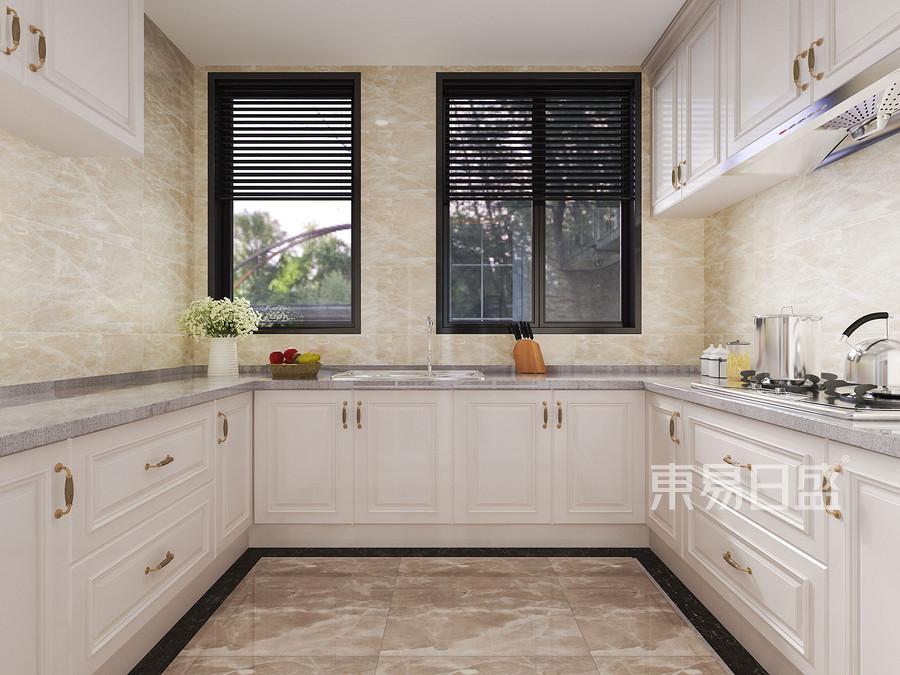 320㎡别墅现代轻奢风格装修 厨房效果图