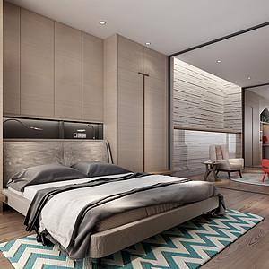 印象欧洲城-混搭-420平米-卧室
