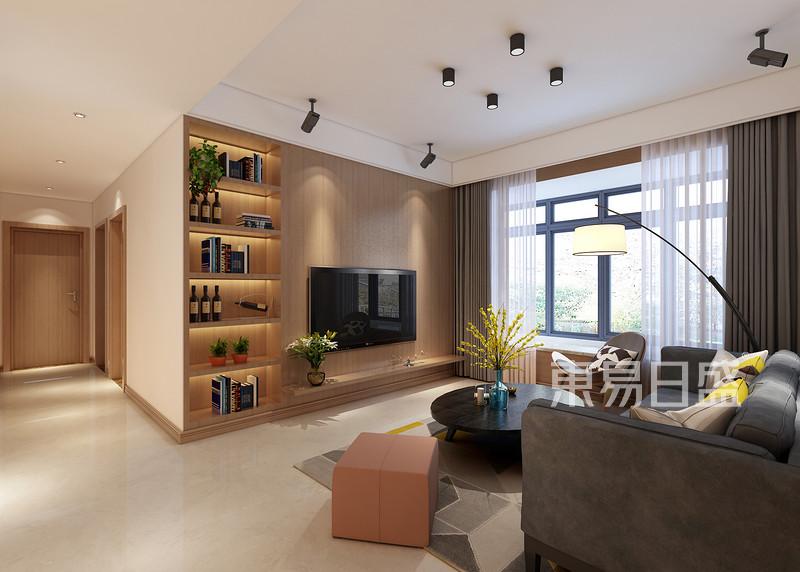 北欧风格客厅电视背景墙效果图_装修效果图大全2018