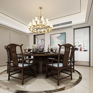 餐厅装修效果图 新中式风格装饰设计