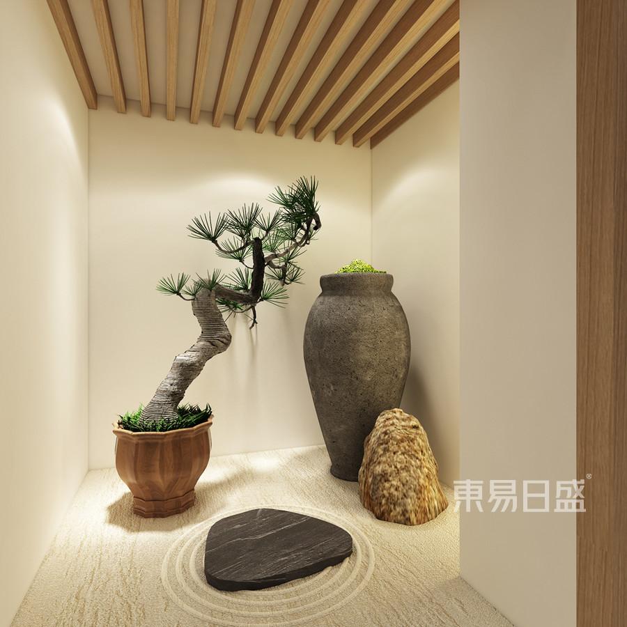茶室装修效果图 新中式风格装饰设计