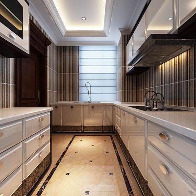 阳光汾河湾欧式326平米大宅厨房装修效果图