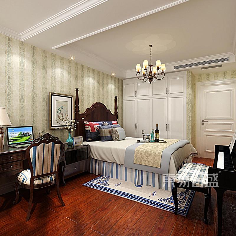 玉兰湾 新美式 卧室装饰