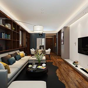 曲江龙邸 现代风格 两室两厅 96平米