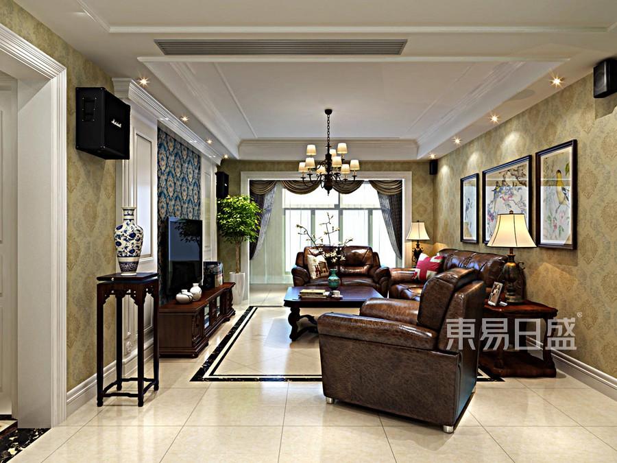 玉兰湾 新美式 客厅装饰