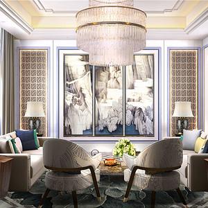 中海紫御豪庭-现代中式-750平