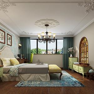 湘江名都248平小美风格复式卧室