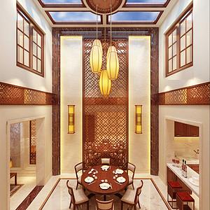 金地紫乐府-中式风格-400平米