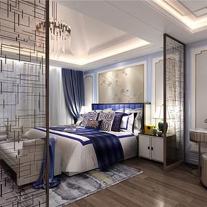 中海紫御豪庭-现代中式-550平卧室