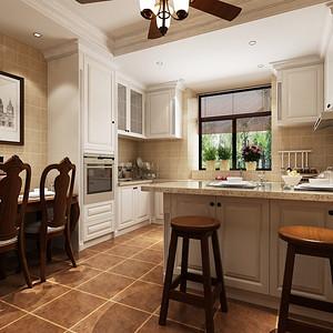 湘江名都248平小美风格复式厨房