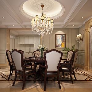 锦绣山河观园五房欧式古典餐厅效果图
