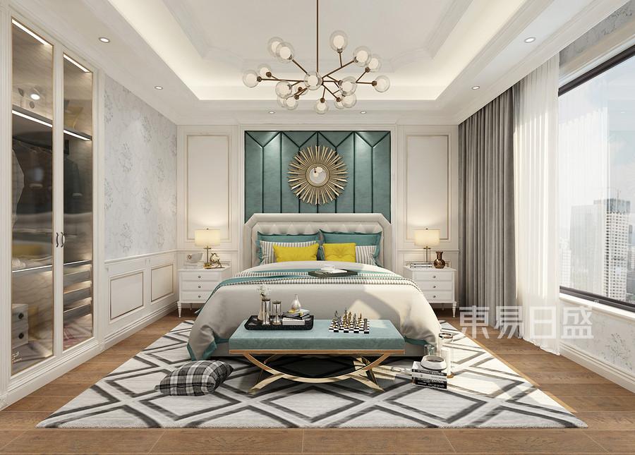 佛山424㎡简欧风格复式楼卧室装修效果图