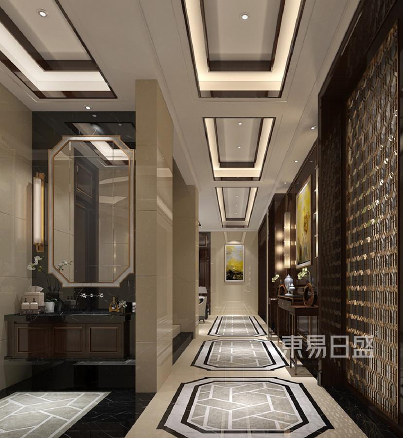 西山壹号院 新中式 走廊装饰