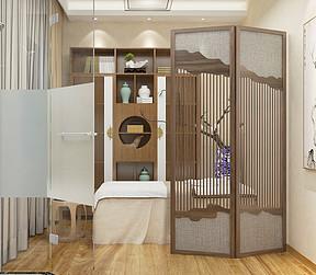 美容会所-新中式-美容室装修效果图