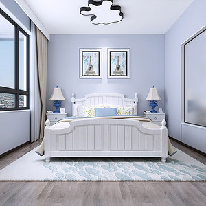 沙田御海蓝岸别墅现代简约儿童房装修效果图