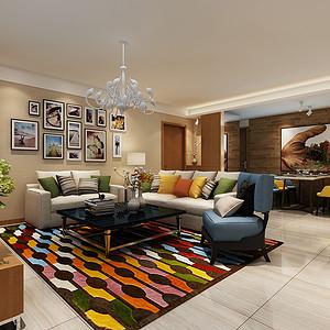 御城龙脉 现代风格 两室两厅 90平米
