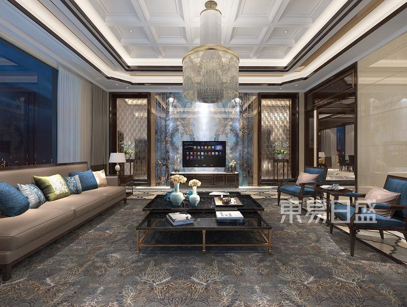 西山壹号院 新中式 客厅装饰