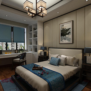 檀郡现代简约风格卧室装修效果图