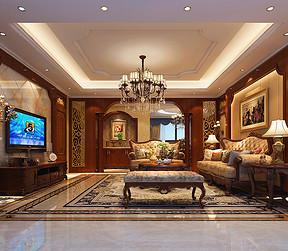 客厅四居室-欧式古典-装修效果图