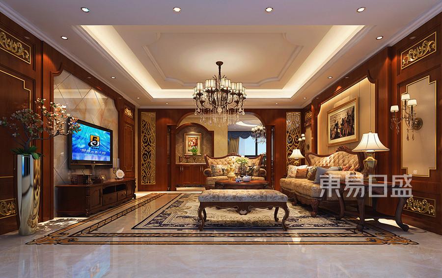 客厅四居室-欧式古典-装修效果图效果图_2018装修案例