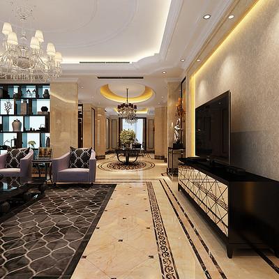 阳光汾河湾欧式326平米大宅客厅装修效果图