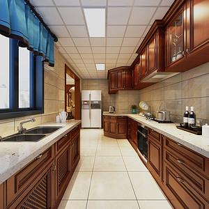 厨房四居室-欧式古典-装修效果图