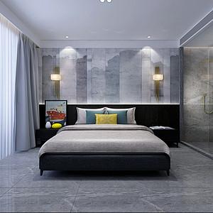 后现代风格-卧室-装修效果图